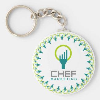 chef marketing basic round button key ring