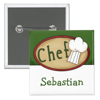 Chef Name ID 15 Cm Square Badge