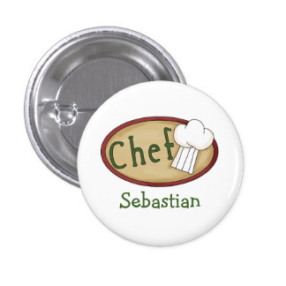 Chef Name ID V2 3 Cm Round Badge