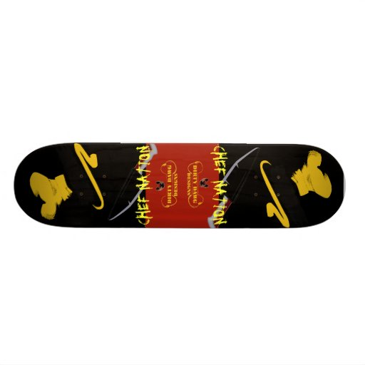 """Chef Nation"" Customized Skateboard"