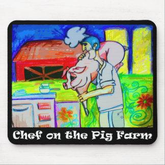 Chef On The Pig Farm Mousepad