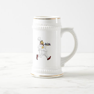 Chef on the run beer stein