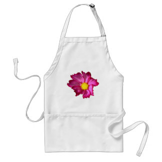 Chef or Gardener Pink Cosmos Flower Bib Apron