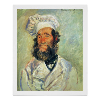 Chef Père Paul by Claude Monet Poster