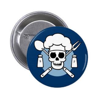 Chef Pirate 6 Cm Round Badge