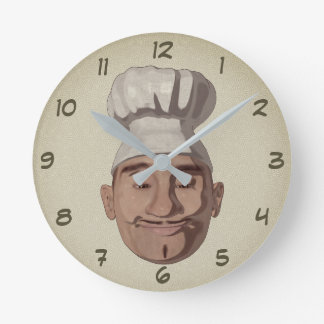 Chef Restaurant 3 Round Clock