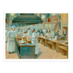 Chef Restaurant Vintage Food Ad Art Postcard