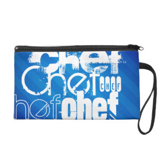 Chef; Royal Blue Stripes Wristlets