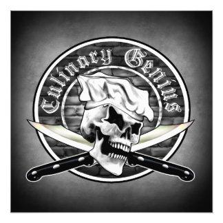 Chef Skull 1.0: Culinary Genius Photo Print