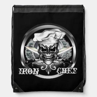 Chef Skull 1 Drawstring Backpacks