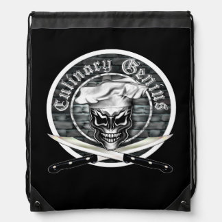 Chef Skull 1 Cinch Bag