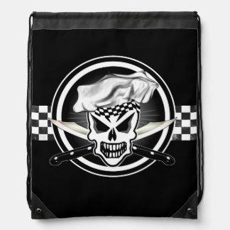 Chef Skull 2 Drawstring Bags