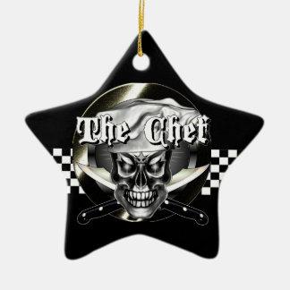 Chef Skull 3.1 Ceramic Ornament