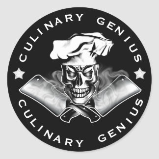 Chef Skull 3.1 Classic Round Sticker
