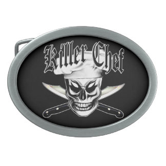 Chef Skull 4: Killer Chef Oval Belt Buckles
