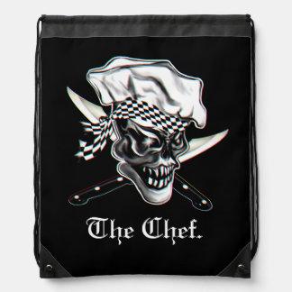 Chef Skull 5 Drawstring Backpack