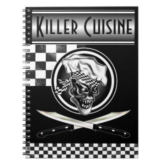 Chef Skull 5 Spiral Note Book
