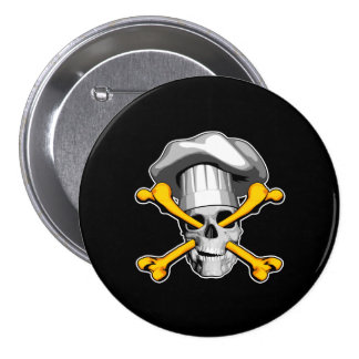Chef Skull and Crossbones Button