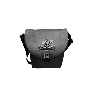 Chef Skull and Flames 2 Courier Bag