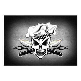 Chef Skull and Flaming Chef Knives 2 Photo Print