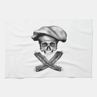 Chef Skull and Ribs Kitchen Towels