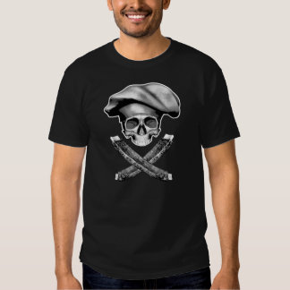 Chef Skull and Ribs Tshirts