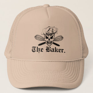Chef Skull and Whisks: The Baker Trucker Hat