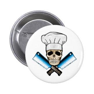 Chef_Skull_C1 6 Cm Round Badge