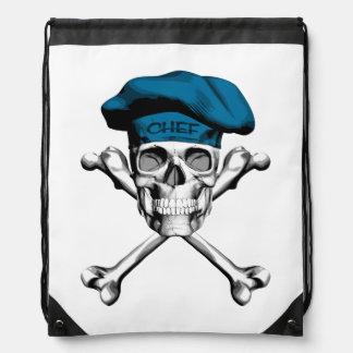 Chef Skull Crossbones: Blue Backpacks