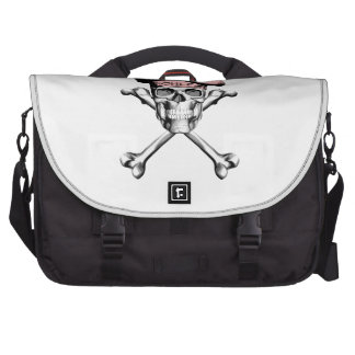 Chef Skull Crossbones: Pink Laptop Commuter Bag
