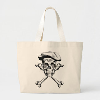 Chef Skull Crossbones: White Bags