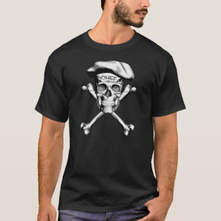 Chef Skull Crossbones: White T-Shirt