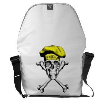 Chef Skull Crossbones: Yellow Courier Bag