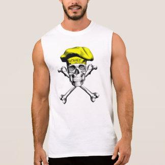 Chef Skull Crossbones: Yellow Sleeveless Shirt