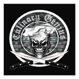 Chef Skull: Culinary Genius Photo Print