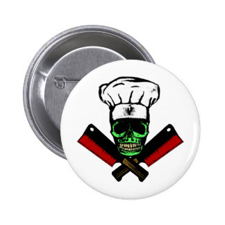 Chef_Skull_HCC1 6 Cm Round Badge