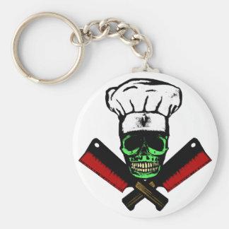 Chef_Skull_HCC1 Basic Round Button Key Ring