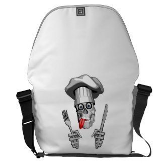 Chef Skull: Knife and Fork Commuter Bags