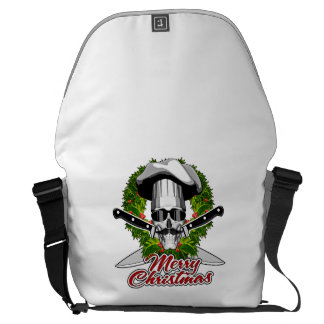 Chef Skull: Merry Christmas Courier Bags