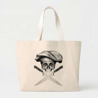 Chef Skull n Knives Jumbo Tote Bag
