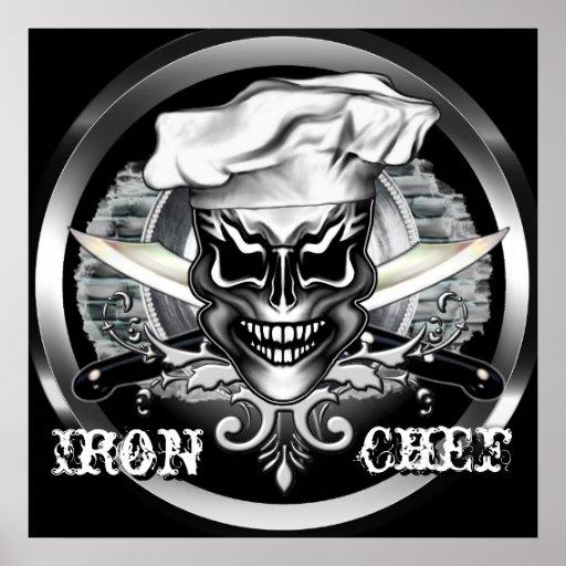 Chef Skull Poster: Iron Chef