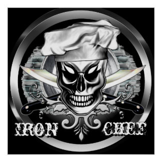 Chef Skull Poster Iron Chef