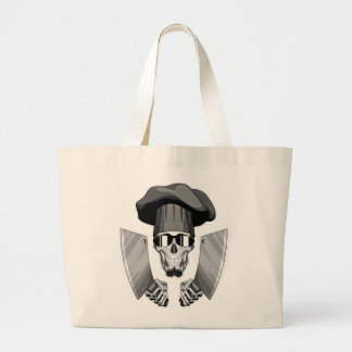Chef Skull with Butcher Knives Jumbo Tote Bag