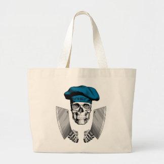 Chef Skull with Butcher Knives Jumbo Tote Bag