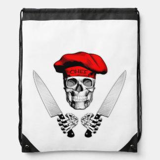 Chef Skull with Chef Knives Rucksacks