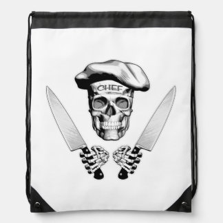 Chef Skull with Chef Knives Rucksack