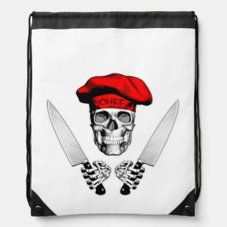Chef Skull with Chef Knives Rucksacks