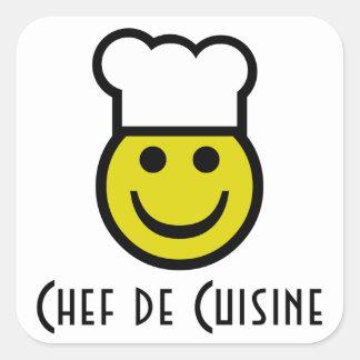 Chef Smiley Square Sticker