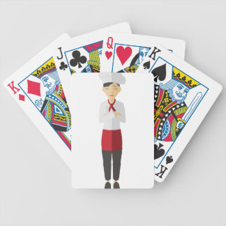 Chef Standing Bicycle Playing Cards
