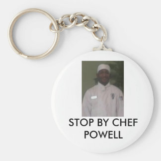 Chef, STOP BY CHEF POWELL Basic Round Button Key Ring